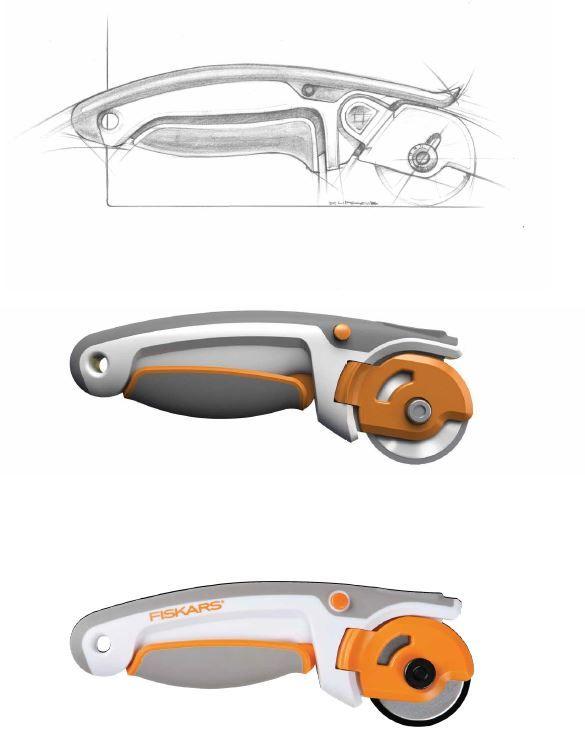 Designing a #Fiskars rotary cutter www2.fiskars.com