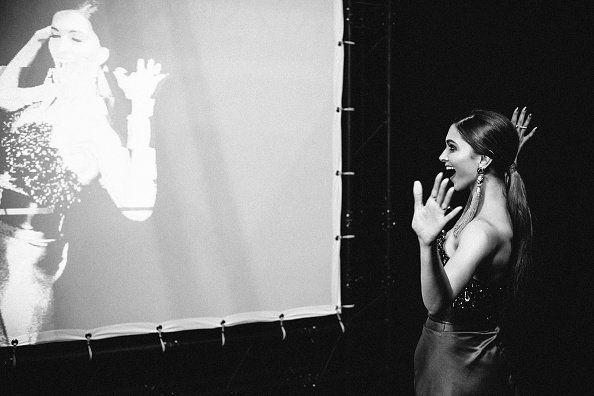 Deepika Padukone at the #MTVEMAs 😍 Why so cute?!
