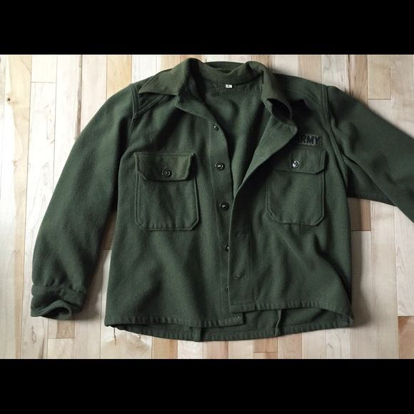 Super cool AUTHENTIC army jacket! This real vintage wool army jacket was purchased at an Army Surplus store, where I was told it dates back to the Vietnam Era!! It's extremely warm and also stylish. I think the sizing is analogous to a women's large now, but this jacket would still look great oversized! Make offers! Vintage Jackets & Coats Utility Jackets