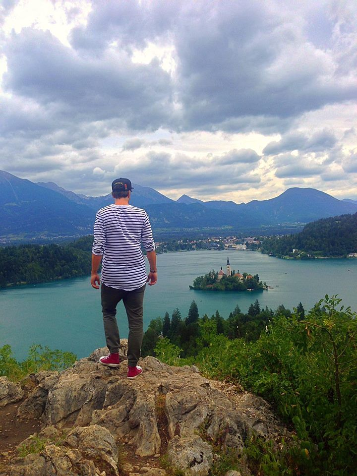 Bled, Slovenia, mountains and island with very nice castle