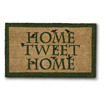 """HOME TWEET HOME"" DOORMAT -"