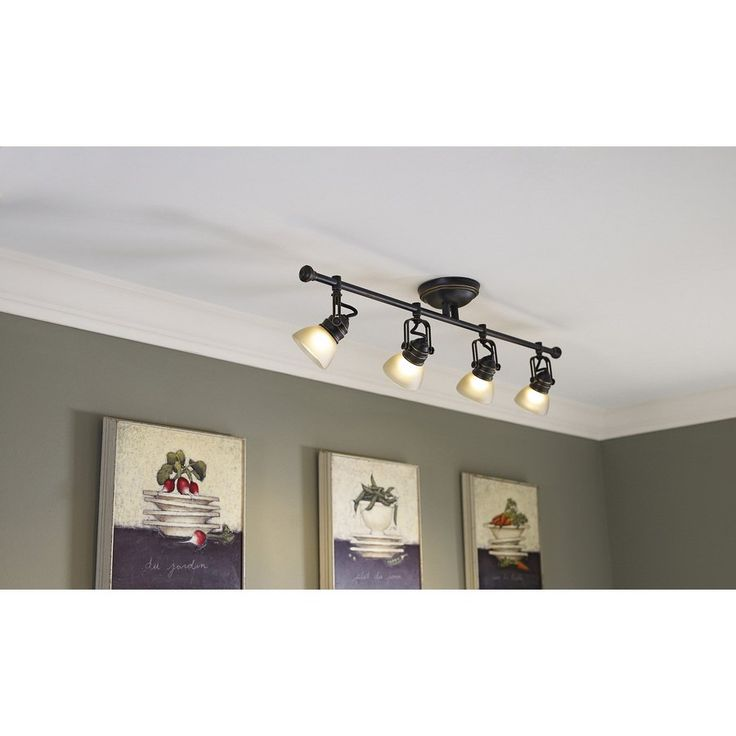 low voltage interior lighting kits%0A Lowes  allen   roth Tucana  Light Bronze Standard Fixed Track Light Kit