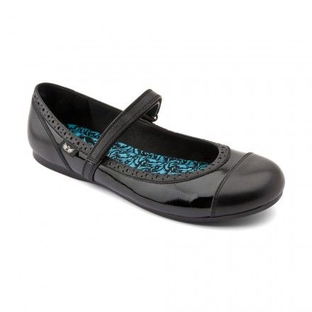 Totally, Black Patent Girls Riptape School Shoes - Girls School Shoes - Girls Shoes http://www.startriteshoes.com/girls-shoes/school-shoes/totally-black-girls-riptape-school-shoes