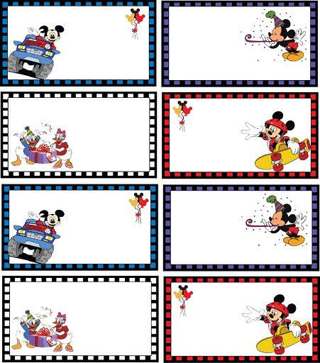 Etiquetas personajes disney para imprimir-Imagenes y dibujos para ...
