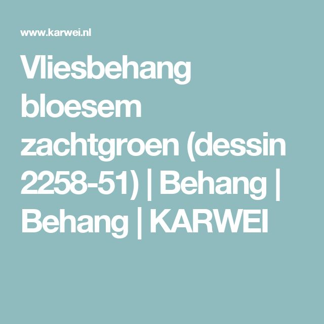 Vliesbehang bloesem zachtgroen (dessin 2258-51) | Behang | Behang | KARWEI