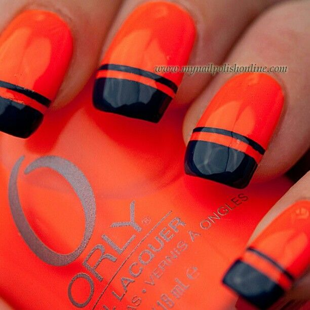 Why Does Neon Nail Polish Chip: 1000+ Ideas About Denver Broncos Nails On Pinterest