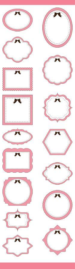 16 Cute Frames Clip Art, Nursery Frames Clip Art, Classic frames, Clipart…