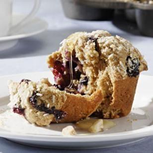 Blueberry-Coconut-Macadamia Muffins Recipe