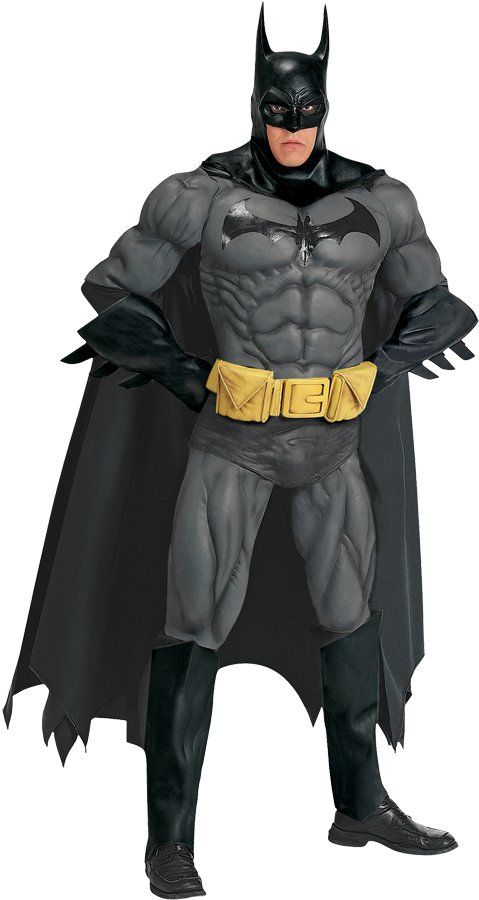 Authentic Licensed BATMAN COLLECTORS EDITION Adult SuperHero Muscle Costume SuperHero Muscle