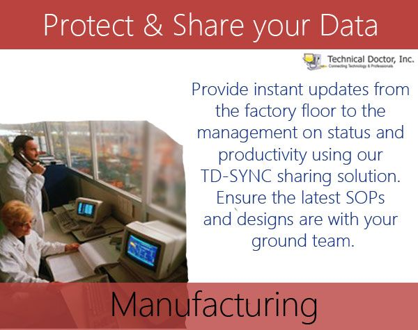 Provide instant updates from the factory floor to the management on status and productivity using our TD-SYNC sharing solution. Ensure the latest SOPs and designs are with your ground team.