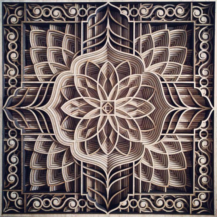 Замысловатые геометрические композиции, создаваемые при помощи лазерного резака.