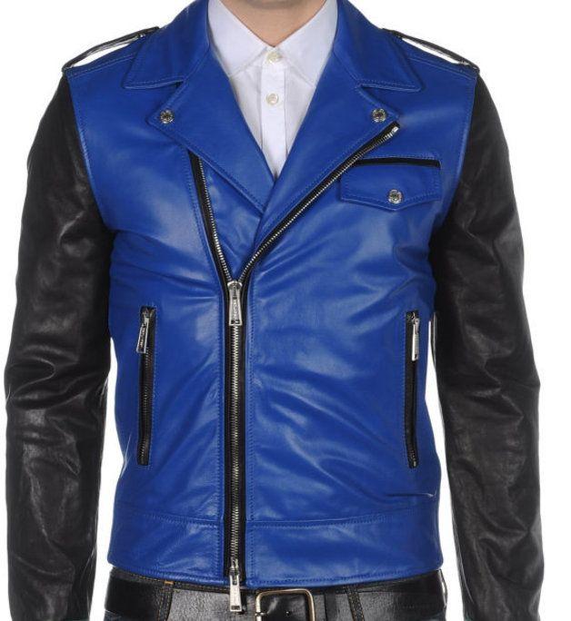 17 bedste idéer til Mens Blue Leather Jacket på Pinterest ...