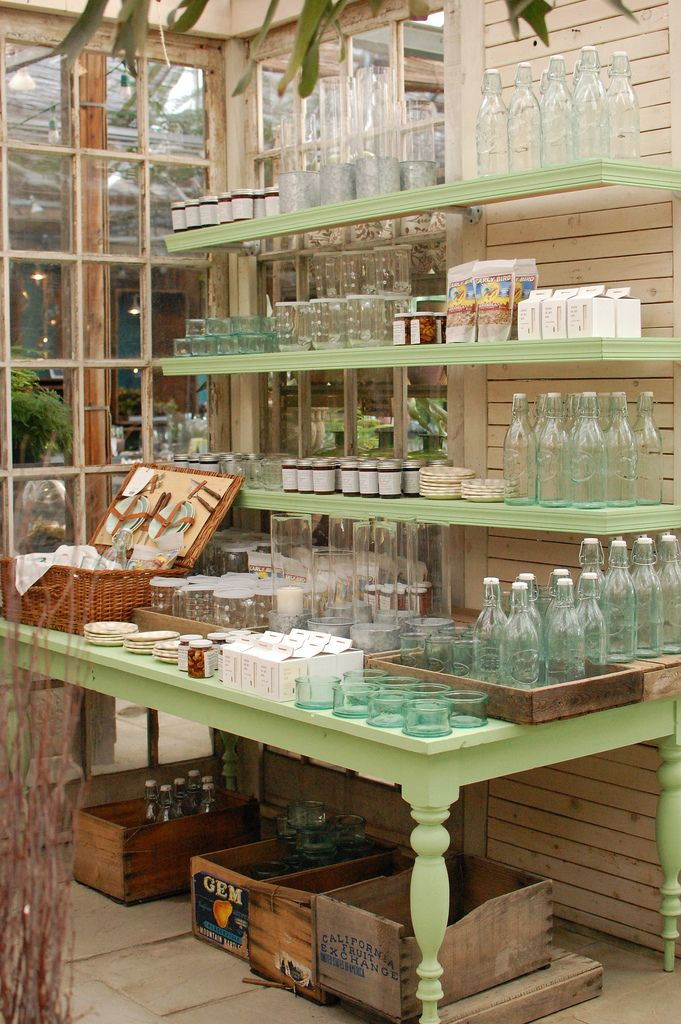 Glass Bottles on Display at Terrain More
