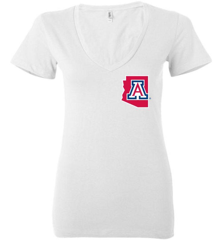 NCAA University of Arizona Wildcats U of A - Bella Ladies Deep V-Neck - 15UA-AZ-a