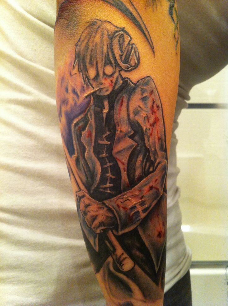 Dr. Stein tattoo - Soul Eater    This is about.  The most awesome thing.  My eyes have every cried for.