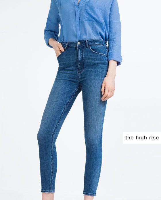 pantalon skiny alto zara