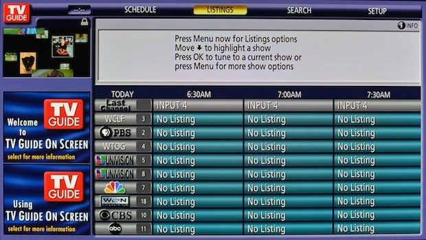 """rovi is shutting down its ota tv guide service without notice"" by ben drawbaugh, engadget: for the longest time, i was trying to figure out why the on.screen tv program listing was no longer working on my sony bravia tv.  apparently, tv guide / rovi killed their free over.the.air service and left us high and dry.  jerks."