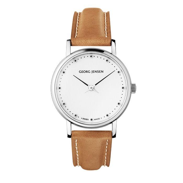 Koppel 424 Armbandsur, Brun - Henning Koppel - Georg Jensen - RoyalDesign.se