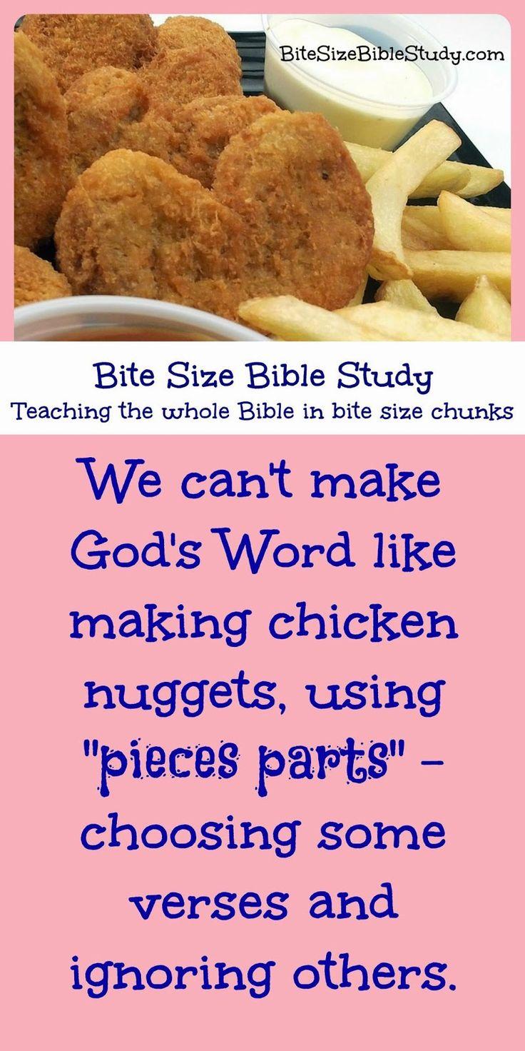 Bite Size Bible Study: Pieces Parts Bible Study