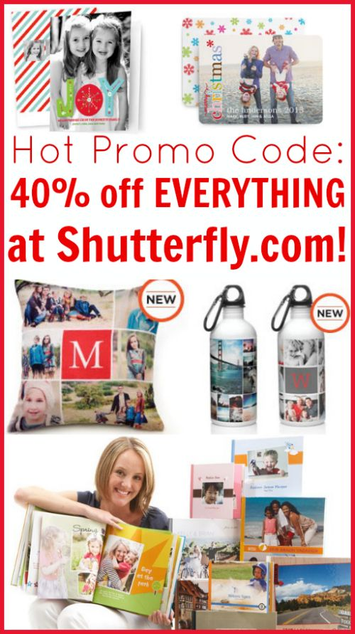 Shutterfly is offering 40% off everything on Shutterfly.com right now when you use Shutterfly.com promo code FIRSTLOOK!  This offer is an excellent opportunity to order up your holiday photo cards before you get too busy with other distractions. It's also the perfect time to look through Shutterfly's customized items and think about unique holiday gifts! …
