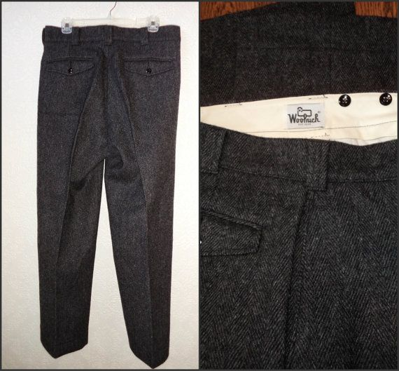WOOLRICH Wool Hunting Pant Malone Trousers by VoraciouslyVintage
