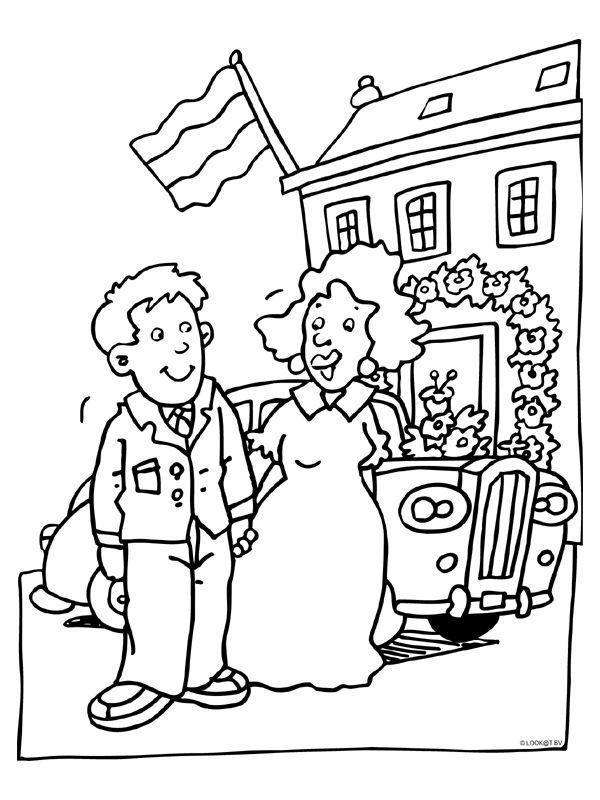 kleurplaat opa oma 45 jaar getrouwd kidkleurplaat nl