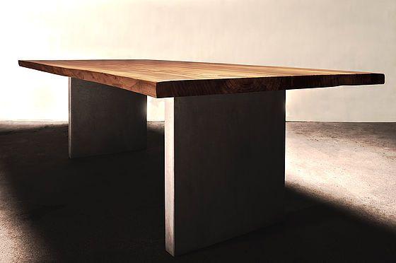 Esstisch Holztisch Einrichtung Möbel Interior modern massiv Holz nach Maß Ulmenholz | Holzwerk-Hamburg