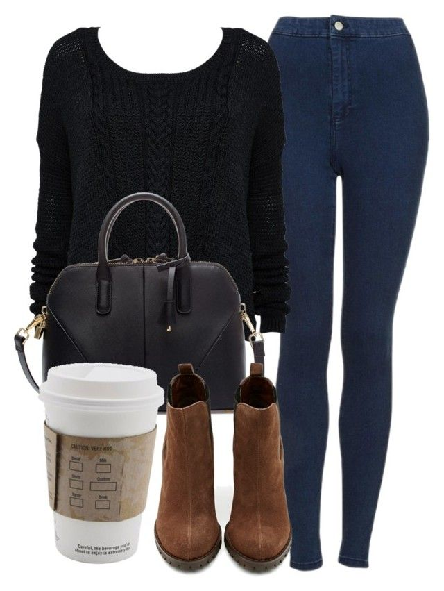 """""""Untitled #4441"""" by laurenmboot ❤ liked on Polyvore featuring Topshop, Zara and Shoe Cult"""