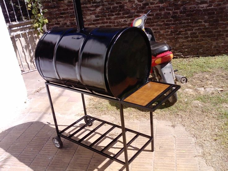 chulengo  parrilla hecha con un tambor de 200 litros la