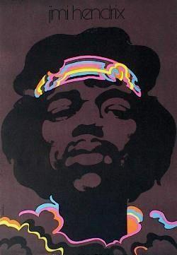 Designer: Swierzy. Title: Jimi Hendrix, 1973. Music Poster.