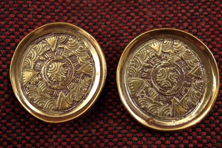 Puddlehill Anglo-Saxon Woman's Saucer Brooches (reproductions)