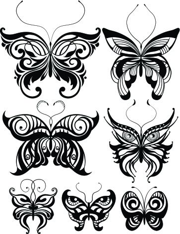 best 25 tribal butterfly tattoo ideas on pinterest sea life tattoos mermaid tattoo designs. Black Bedroom Furniture Sets. Home Design Ideas
