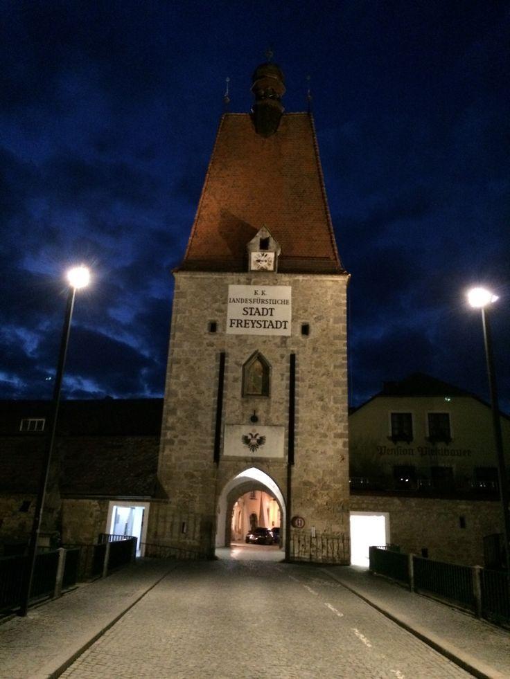 #freistadt Linzertor bei Nacht