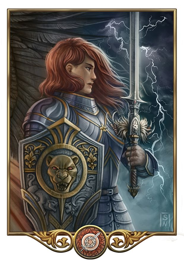 Rondra by GaiasAngel (Rondra - Godness of protection, fair fights and Thunder. Strong and unbroken she defends the realm of mankind and gods.)