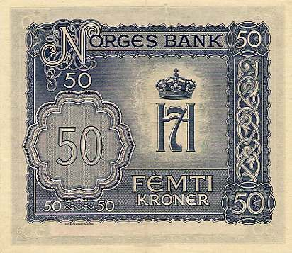 Norwegian Krone | Norwegian krone issued in 1944