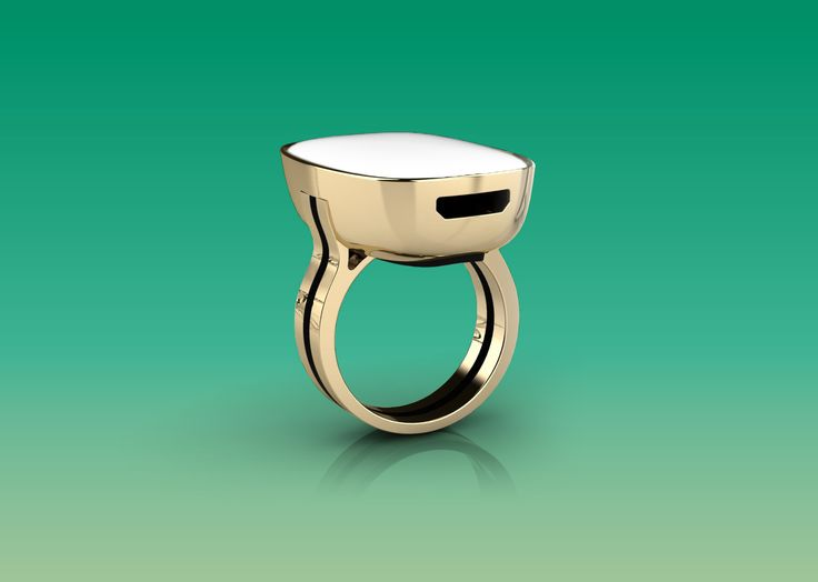 """Moodmetric """"smart jewelry for emotional intelligence and wellbeing. The design ring measures skin conductance to track your emotional levels and connects with your iPhone."""""""
