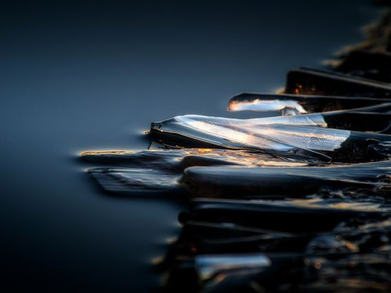 Nieuw in mijn Werk aan de Muur shop: Iced sunrise