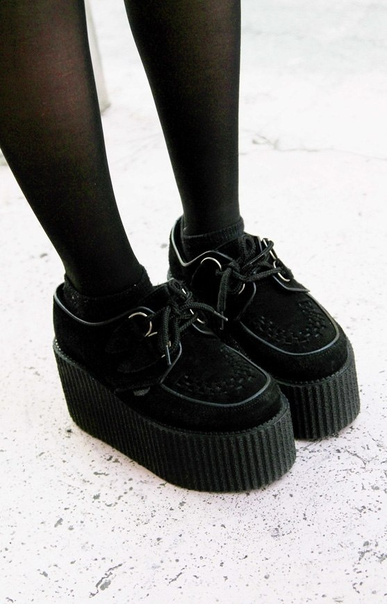 creepers shoes. I still don't know how I feel about these but they're growing on me... I kinda want a pair lol