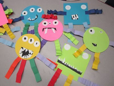 Shape monsters. Geometry and Extension use for colors, graphing, measurement, and descriptive writing (ELA integration).