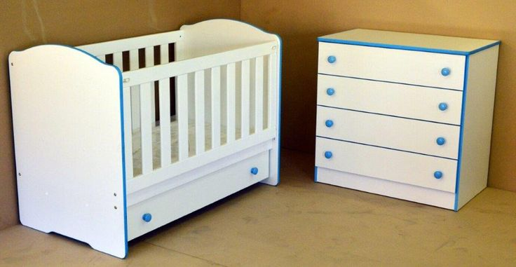 Candy Range - Clarissa Cot and Jumbo 4 Drawer chest