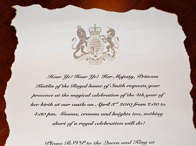 royal invitation wording princess party