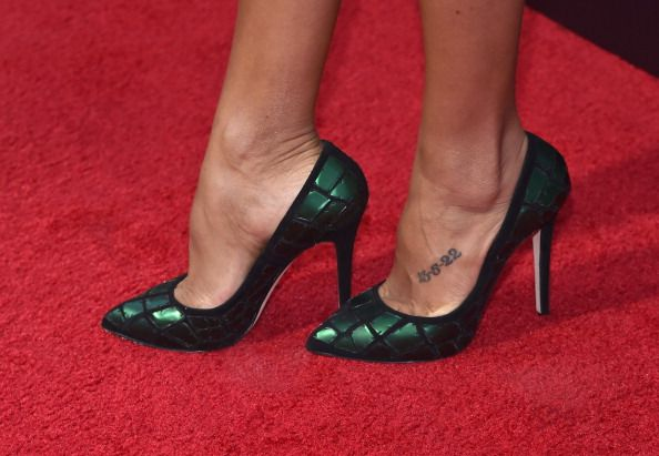 Dania Ramirez (shoe detail) arrives to The Weinstein Company and Lexus Present Lexus Short Films at The Regal Cinemas L.A. Live on July 30, 2014 in Los Angeles, California.