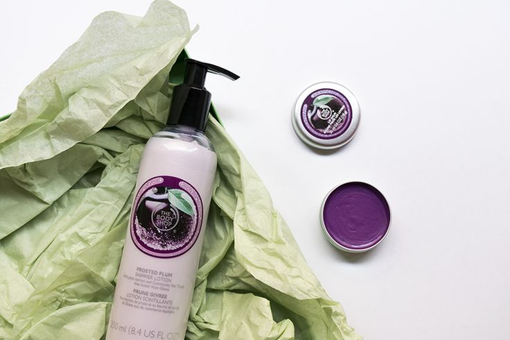 Cups & Roses, The Body Shop Christmas 2015 Collection: Frosted Plum Shimmer Lotion and Lip Balm