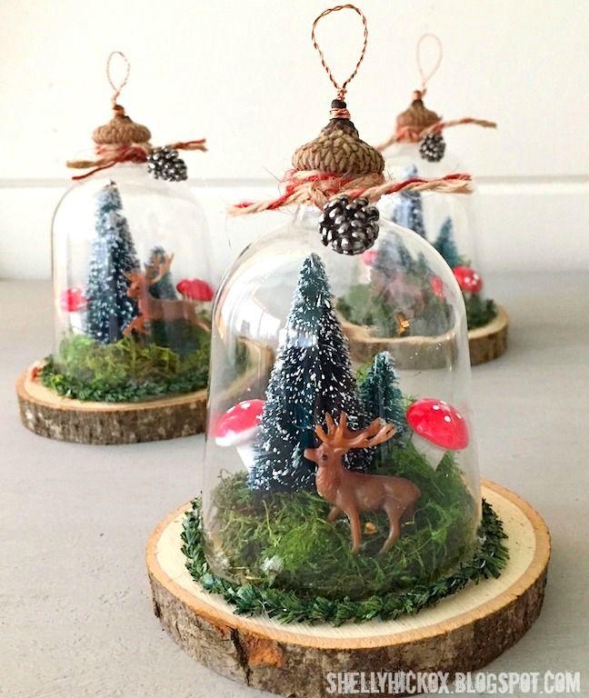Woodland Cloche Ornaments