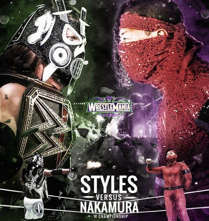 WrestleMania AJ Style (c) vs Shinsuke Nakamura