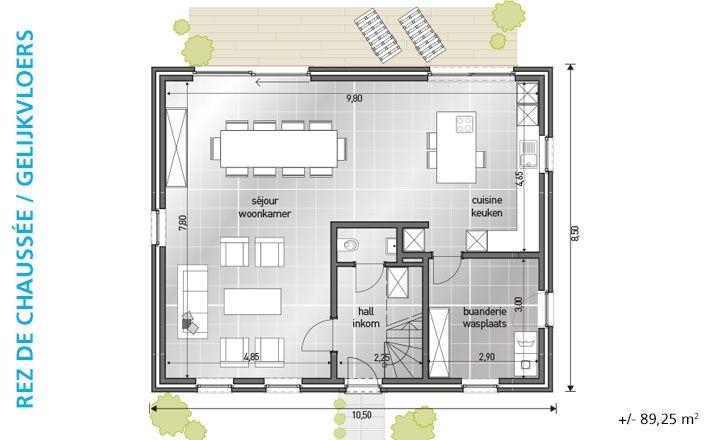 1000 images about huizen on pinterest - Plan indoor moderne woning ...