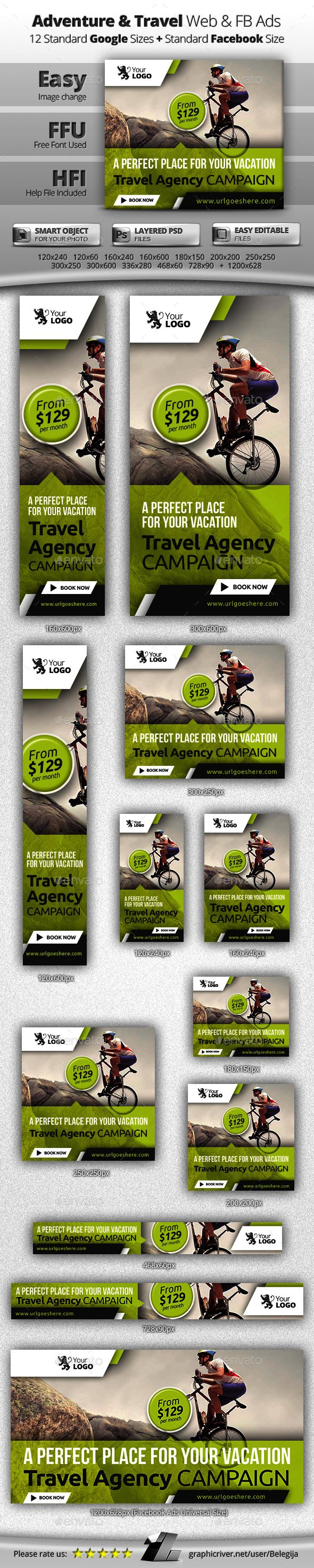 Travel Web & Facebook Banners - Banners & Ads Web Elements | Download: https://graphicriver.net/item/travel-web-facebook-banners/13003665?ref=sinzo