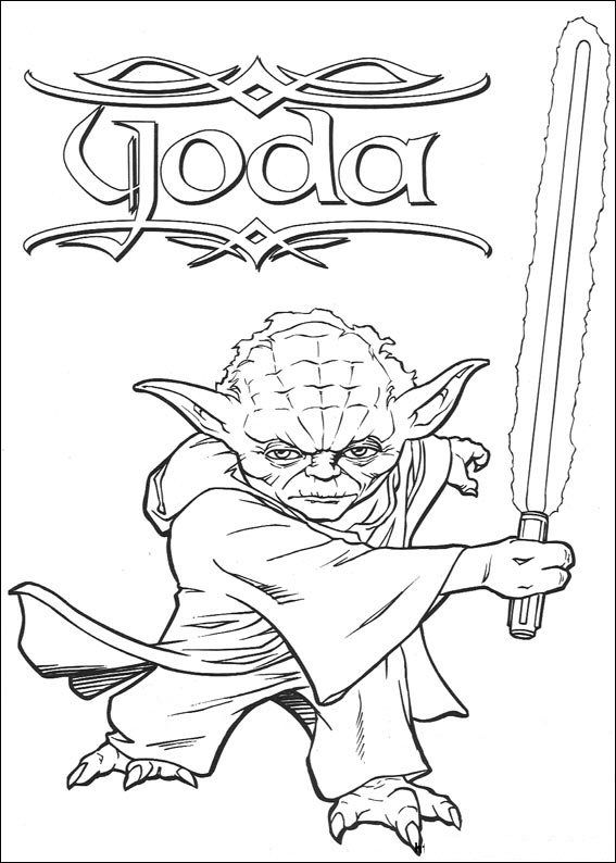 coloring page Star Wars - Joda | Coloring pages (Printables ...