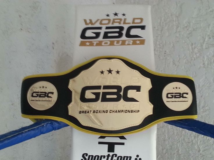 World GBC Tour WELTERWEIGHT Tournament Champion Belt K1 -70kg 3x3mn
