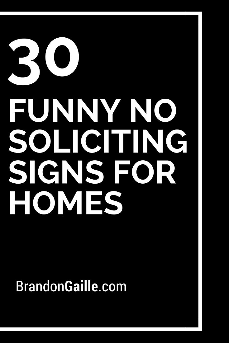 30 Funny No Soliciting Signs for Homes